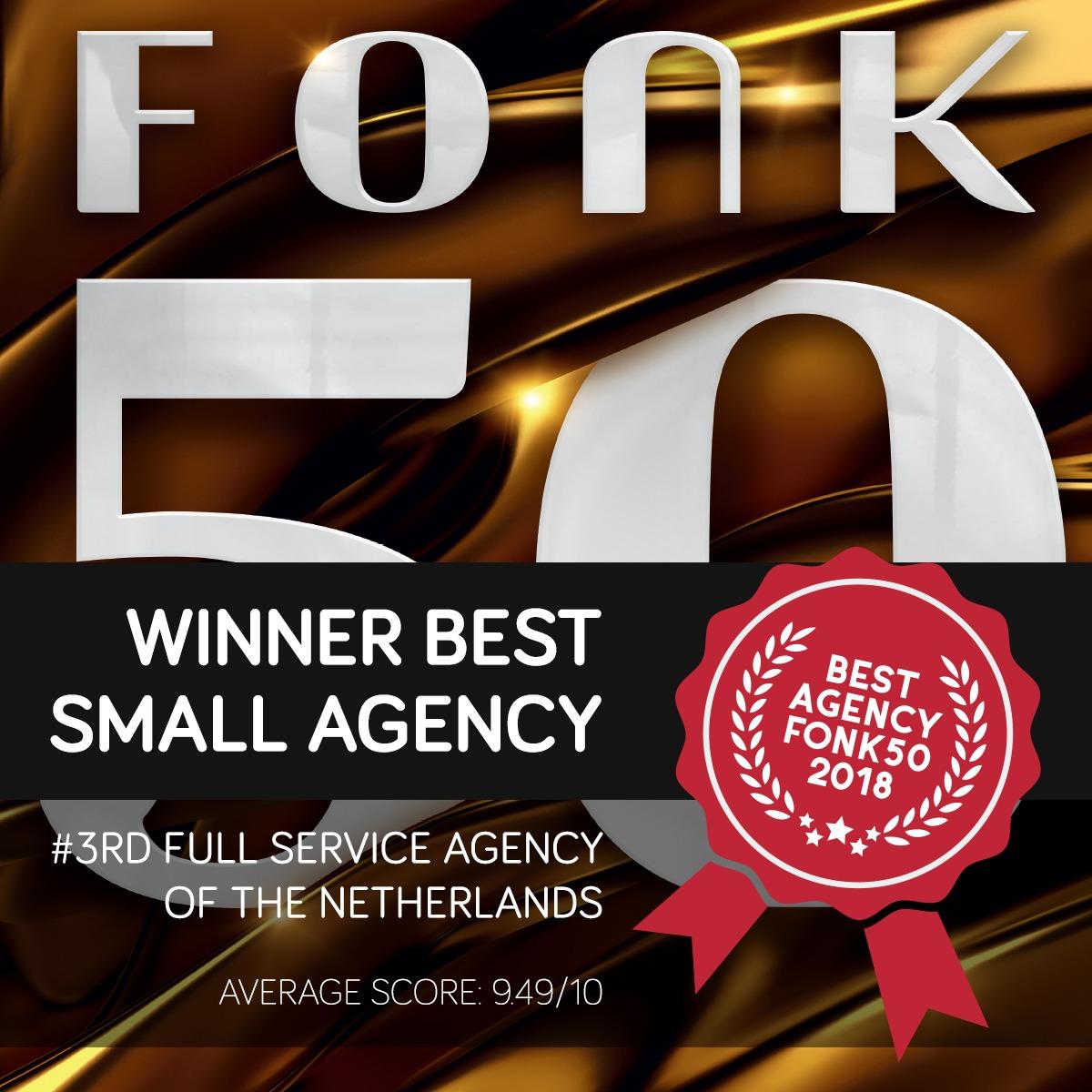 FONK50 2018 Best Agencies Vertigo 6 marketing PR Benelux Netherlands Nordics